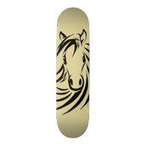 Horse Head Skateboard Deck