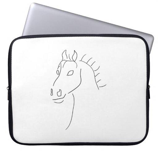 Horse head sketch computer sleeves