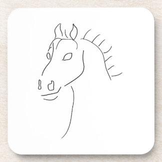 Horse head sketch coasters