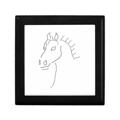 Horse head sketch jewelry boxes