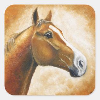 horse head square sticker