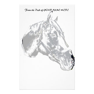 horse head stamp style stationery