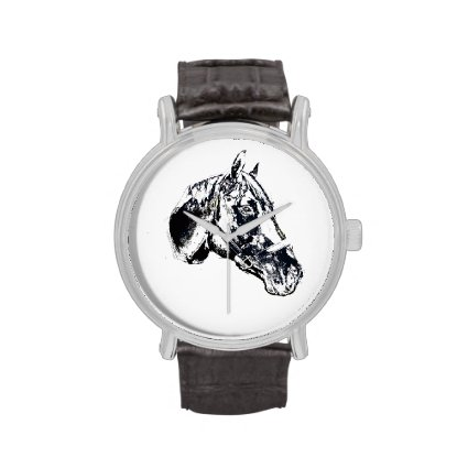 horse head stamp style watch