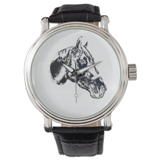 horse head stamp style wrist watch