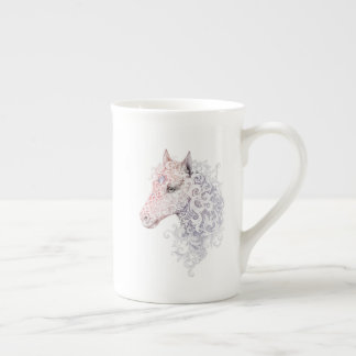 Horse Head Tattoo Tea Cup
