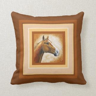 horse head throw pillow