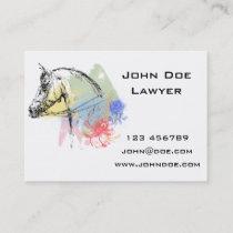 Horse Head Watercolors Business Card