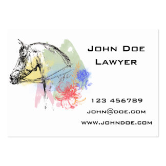 Horse Head Watercolors Large Business Card