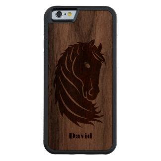 Horse Head Wooden iPhone 6 Case Carved® Walnut iPhone 6 Bumper Case