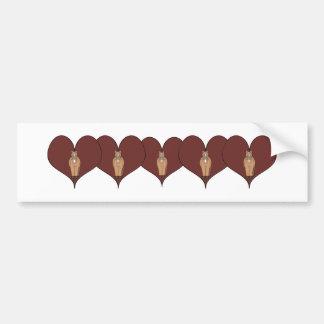 Horse Heart Bumper Sticker