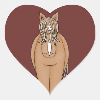 Horse Heart Heart Sticker