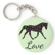 Horse, Hearts and Love Keychain