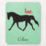 Horse, Hearts and Love Mouse Pad