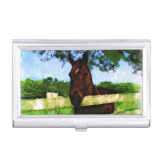 Horse Hello Business Card Case