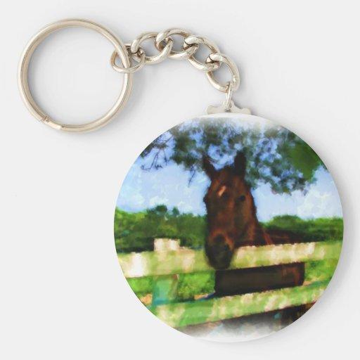 Horse Hello Keychain