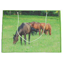 Horse Herd Beautiful Horses Animals Equine Large Gift Bag