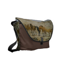 Horse Herd Messenger Bag