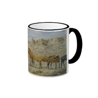 Horse Herd Mug in Black