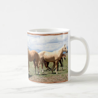 Horse Herd Under Big Sky Classic White Coffee Mug