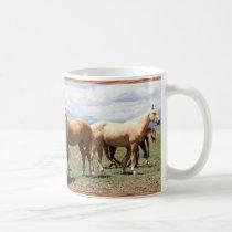 Horse Herd Under Big Sky Coffee Mug