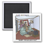 Horse Hiccups 2 Inch Square Magnet