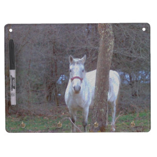 Horse Hiding Place Dry Erase Board With Keychain Holder
