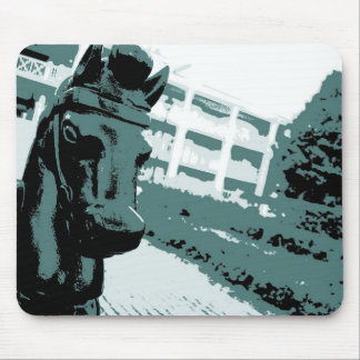 Horse Hitching Post Pop Art Mouse Pad
