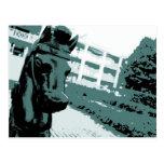 Horse Hitching Post Pop Art Post Card