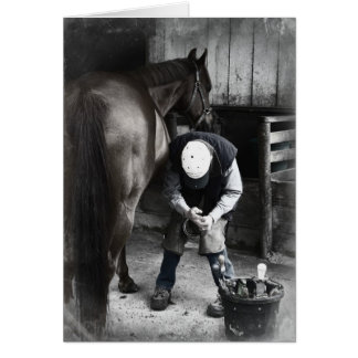 Horse Hoof Trim & Farrier Services Card