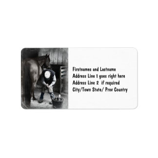 Horse Hoof Trim & Farrier Services Label