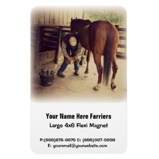 Horse Hoof Trim & Farrier Services Magnet