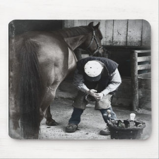 Horse Hoof Trim & Farrier Services Mouse Pads