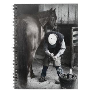 Horse Hoof Trim & Farrier Services Notebook