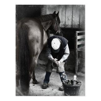 Horse Hoof Trim & Farrier Services Postcard