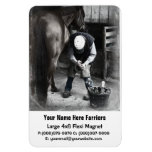 Horse Hoof Trim & Farrier Services Vinyl Magnets