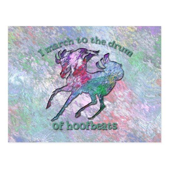 HORSE HOOFBEATS POSTCARD