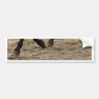 Horse hooves bumper sticker
