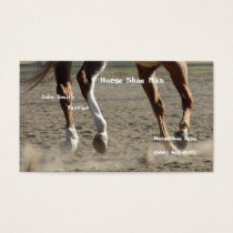 Horse Hooves in Motion Business Card
