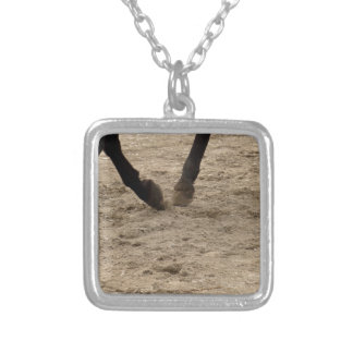 Horse hooves silver plated necklace