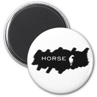 Horse - Horse and Horse Punched Background Magnet