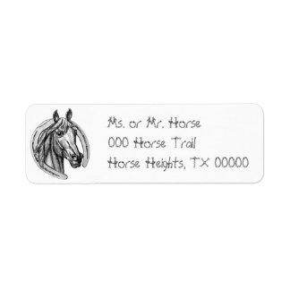 Horse Horseshoe Return Address Avery Labels