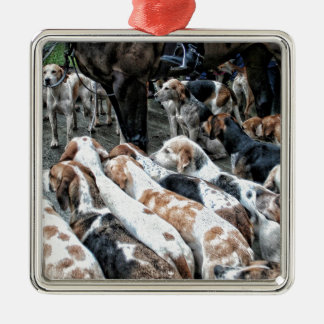 Horse & Hound Metal Ornament