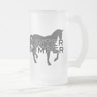 Horse - Hunter Jumper with Pretty Horse Frosted Glass Beer Mug
