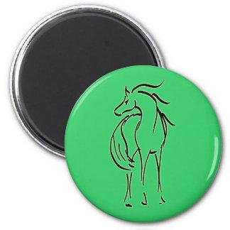 Horse Illustration Magnet