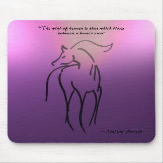 Horse Illustration Mousepad - Arabian Quote