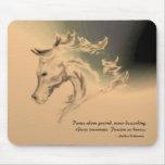 Horse Illustration Mousepad - Dance Quote