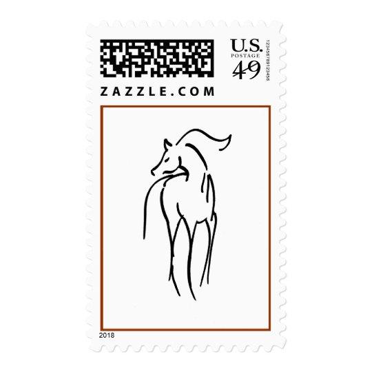 Horse Illustration Stamp