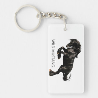 Horse image for Rectangle-Key-chain Keychain
