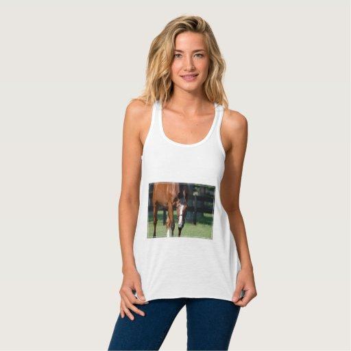 Horse in a Field Flowy Racerback Tank Top Tank Tops, Tanktops Shirts