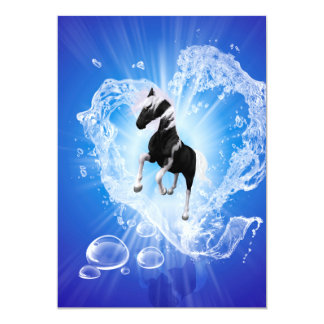 Horse in a heard made of water 5x7 paper invitation card